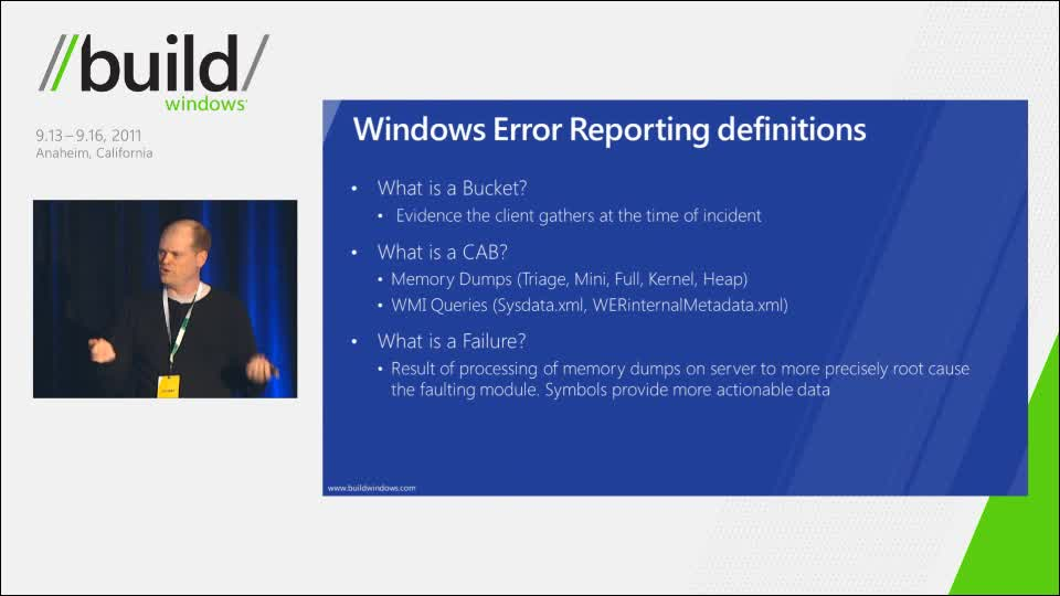 Improving code quality with Windows error reporting