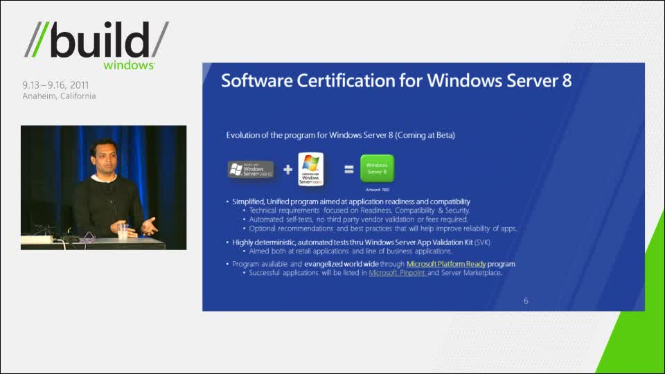 Windows Server 8 software and hardware certification