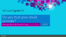 Do you trust your cloud provider?