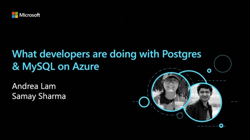What developers are doing with Postgres & MySQL on Azure