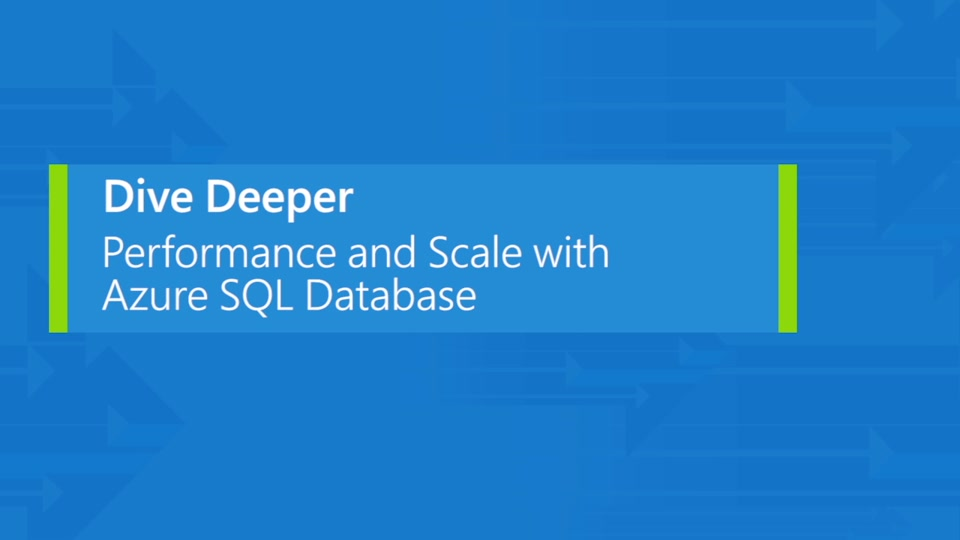 Performance and scale-up with Azure SQL Database