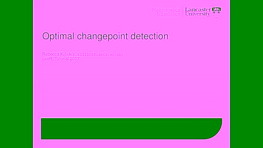 Introduction to optimal changepoint detection algorithms