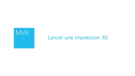 Lancer une impression 3D