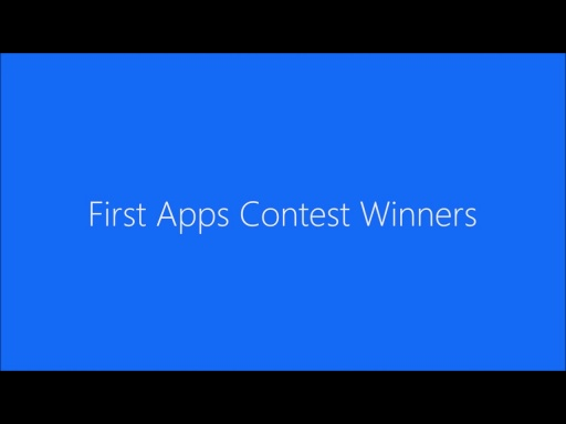 First Apps Contest Winners [Extended]