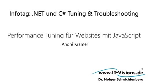 Performance Tuning für Websites mit JavaScript