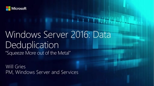 Data Deduplication in Windows Server 2016
