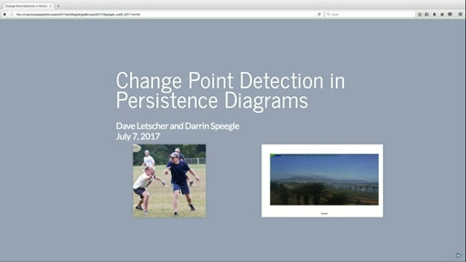 Change Point Detection in Persistence Diagrams