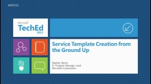 Service Template Creation from the Ground Up