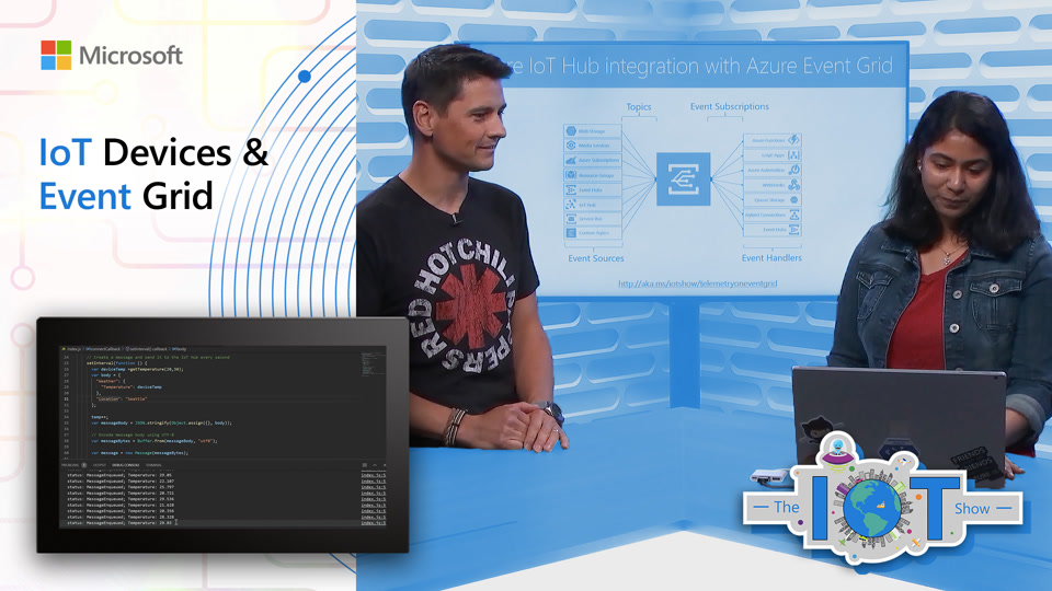 On the #IoTShow, @ash_rastogi and @obloch show how @Azure #IoTHub now publishes device telemetry events on Azure #EventGrid.