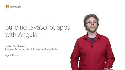 Building JavaScript apps with Angular
