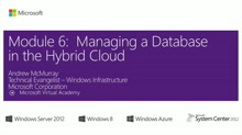 (Module 6) Managing a Database in the Hybrid Cloud