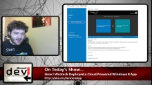 Microsoft DevRadio: Community Corner – How I Wrote and Deployed a Cloud Powered Windows 8 App in Six Days