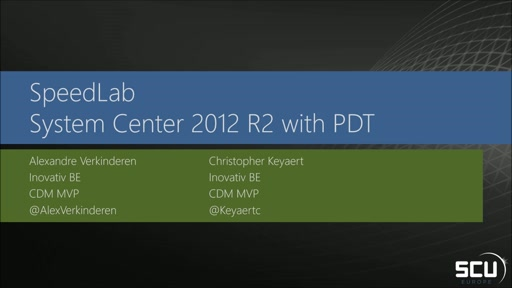 Speed Lab - Deploy a Microsoft System Center 2012 R2 environment