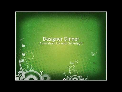 US Public Sector Developer Dinner for Partners - Implementing Modern User Experiences with Expression Blend & Silverlight