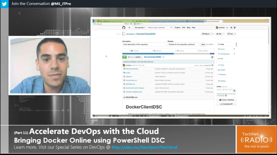 TechNet Radio: (Part 11) Accelerate DevOps with the Cloud - Bringing Docker Online using PowerShell DSC