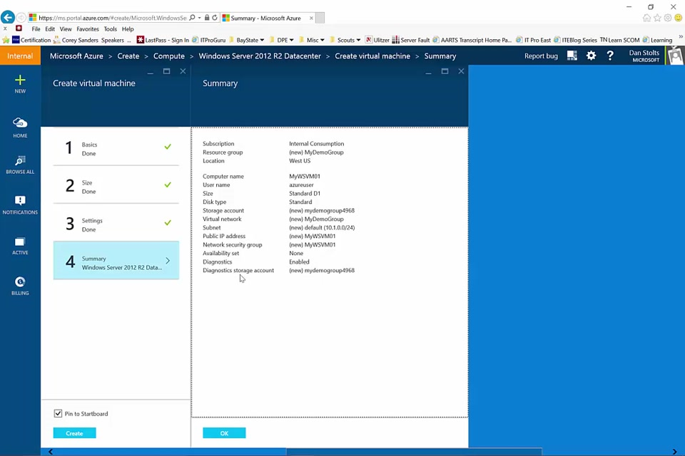 Create A Virtual Machine Running Windows In The Azure Preview Portal