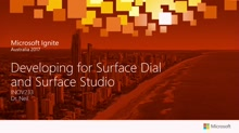 Developing for Surface Dial and Surface Studio