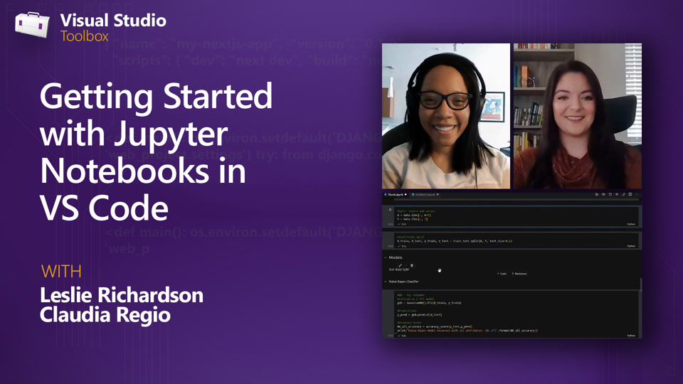 Getting Started with Jupyter Notebooks in VS Code | Visual Studio Toolbox