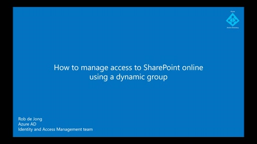 Using Azure Active Directory dynamic group membership to manage access to Sharepoint sites