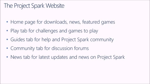 Creating Games with Project Spark: (01) The Project Spark Website