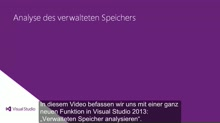 Visual Studio 2013 Ultimate: Analyse des verwalteten Speichers