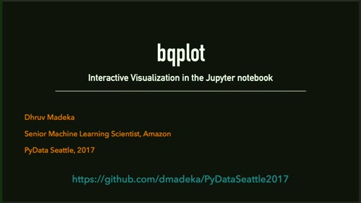 bqplot - Interactive Data Visualization in Jupyter
