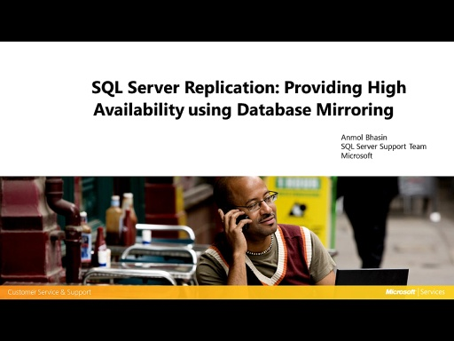 High Availability for SQL Server Replication using Database Mirroring