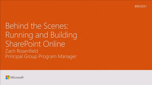 Peek behind the scenes of running and building SharePoint Online
