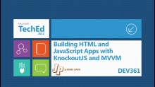 Building HTML and JavaScript Apps with KnockoutJS and MVVM