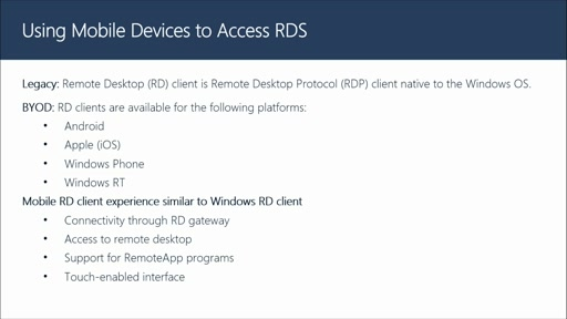 Using Mobile Devices to Access RDS