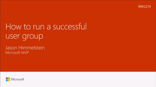 Learn how to run a successful user group