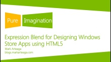 Expression Blend for designing Windows Store apps using HTML5