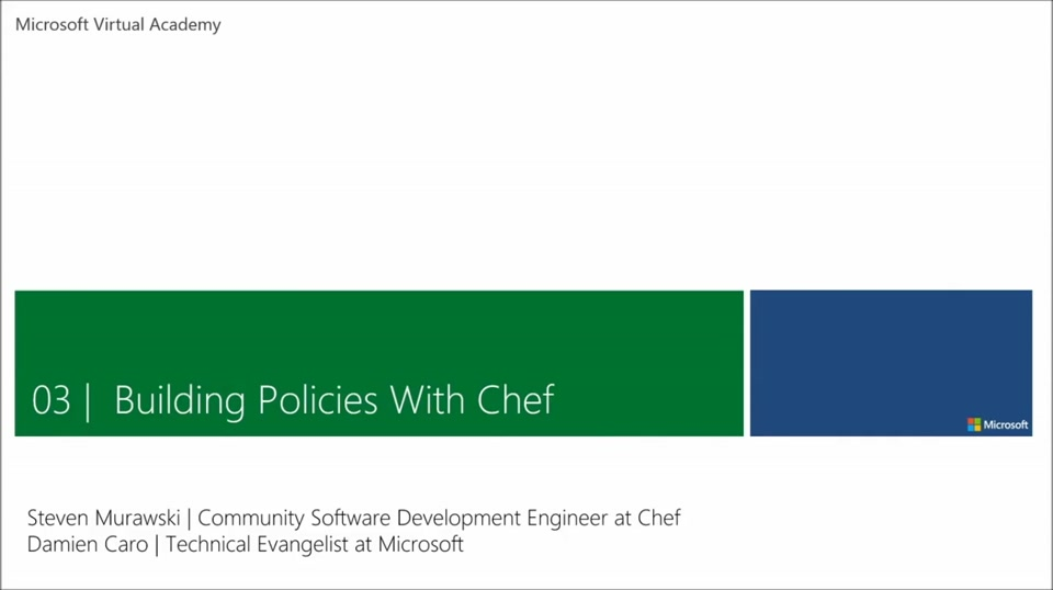 (Module 3) Building Policies with Chef 