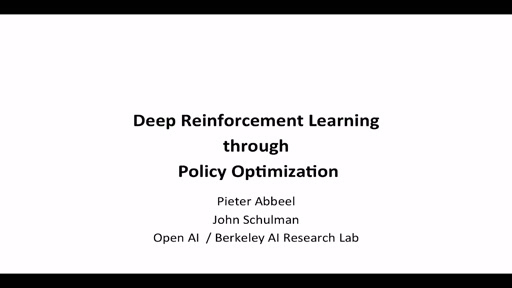 Deep Reinforcement Learning Through Policy Optimization