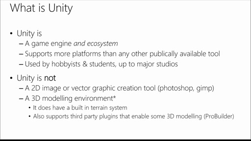 Developing 2D & 3D Games with Unity for Windows: (01) Intro & Architecture