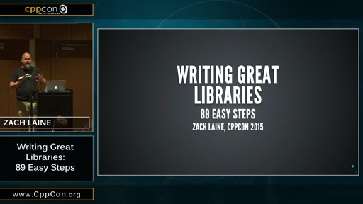 Writing Great Libraries: 89 Easy Steps