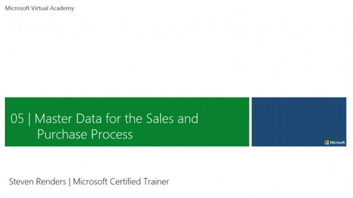 Master Data for the Sales and Purchase Process