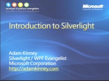 VS2008 Training Kit: Introduction to Silverlight