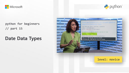 Python for Beginners [15 of 44] Date Data Types