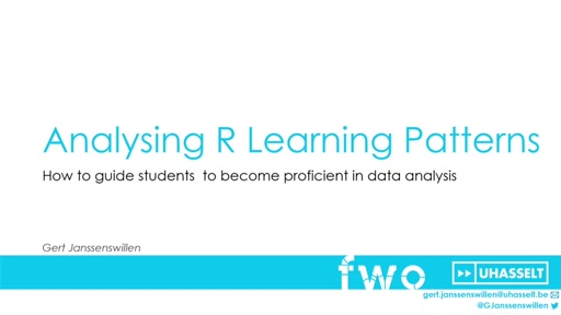 The analysis of R learning styles with R PLENARY