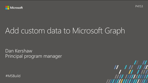 Add custom data to Microsoft Graph