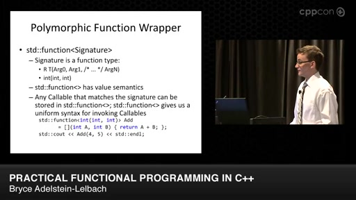 Practical Functional Programming in C++