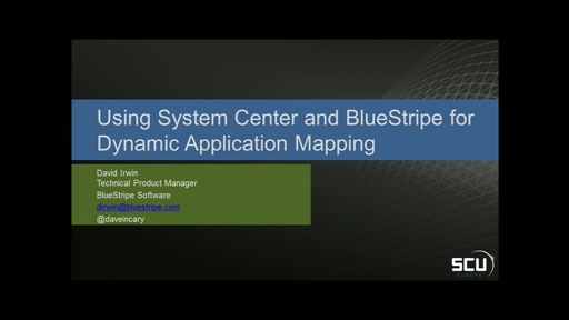 Sponsored Session BLUESTRIPE SOFTWARE - Using System Center and BlueStripe for dynamic application management accross Azure and datacenter business applications