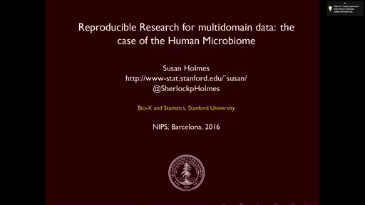 Reproducible Research: the Case of the Human Microbiome