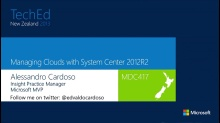 Managing Clouds with System Center