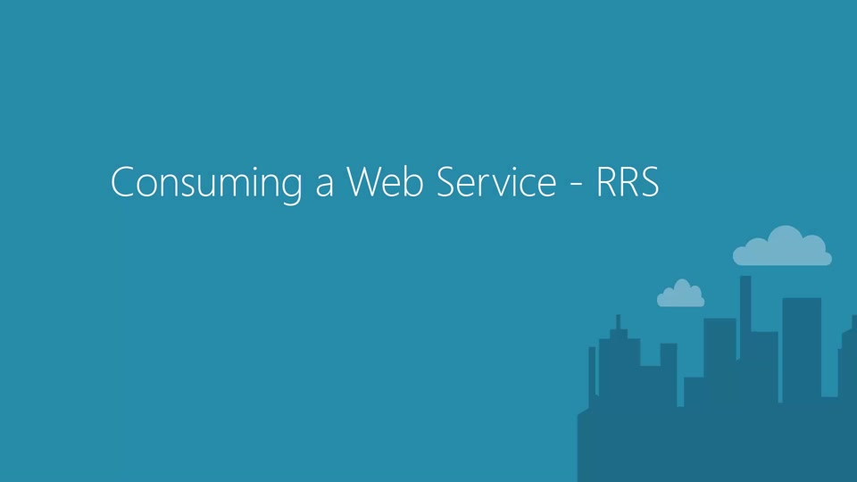 Consuming a Request Response Web Service