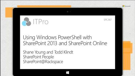Using Windows PowerShell with SharePoint 2013 and SharePoint Online