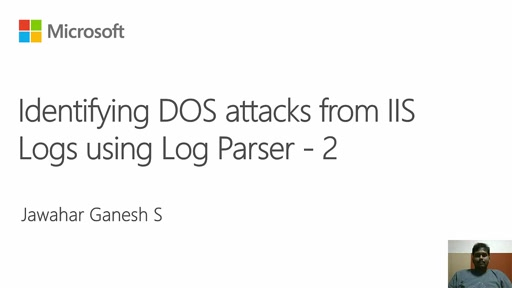 Troubleshooting IIS and ASP.NET Issues with Log Parser - DOS Attack 2