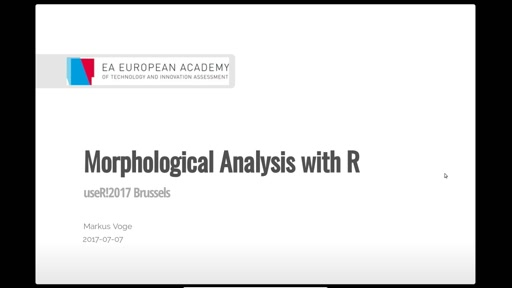 Morphological Analysis with R