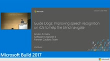 Guide Dogs: Improving speech recognition on iOS to help the blind navigate